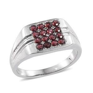 Other - Orissa Rhodolite Garnet Stainless Steel Men's Ring